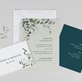 Faire-Part Mariage Eucalyptus Floral, 3 en 1