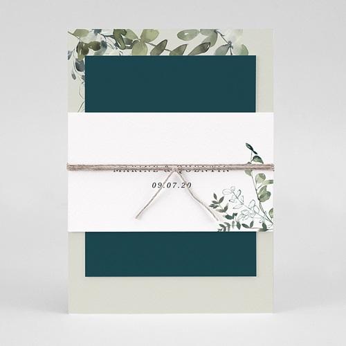 Faire-Part Mariage Eucalyptus Floral, 3 en 1 pas cher
