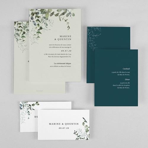 Faire-Part Mariage Eucalyptus Floral, 3 en 1 gratuit