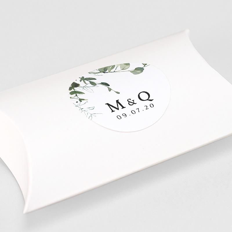 Etiquette Autocollante Mariage Eucalyptus Floral, 4,5 cm gratuit