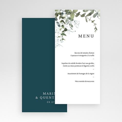 Menu Mariage Personnalisé Eucalyptus Floral, Vert tendre pas cher
