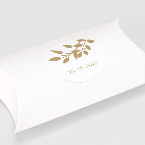 Etiquette Autocollante Mariage Nature White Kraft, 4,5 cm gratuit