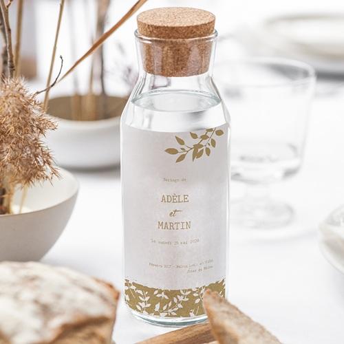 Etiquette Bouteille Mariage Nature White Kraft, 8 cm x 13 cm gratuit