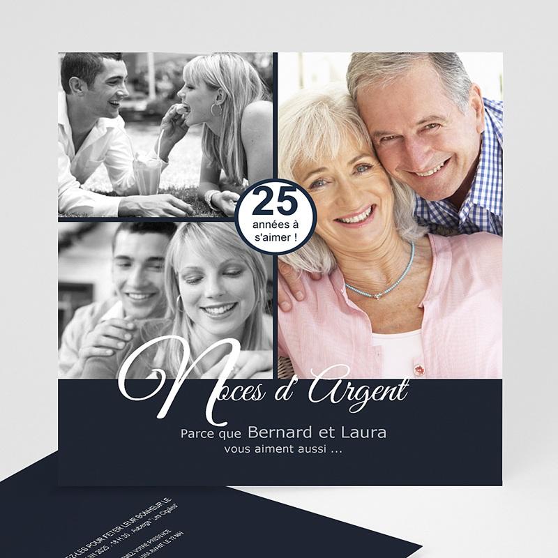 Carte Invitation Anniversaire Mariage Evénement élégant
