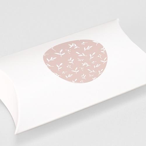 Etiquette Autocollante Naissance Brin de bonheur, rose tendresse, 4,5 cm gratuit