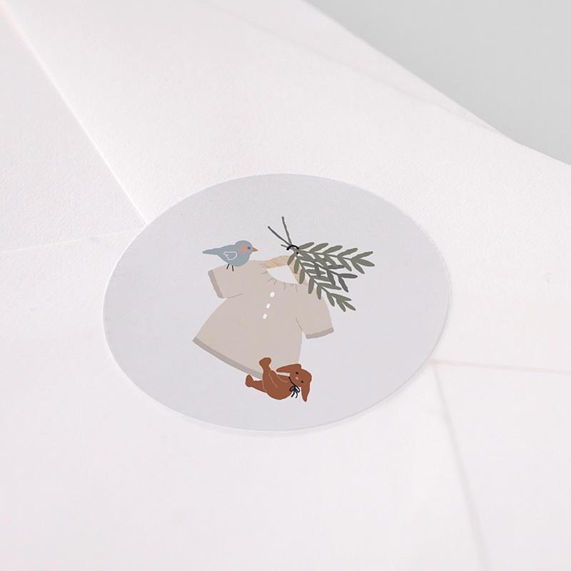 Etiquette Autocollante Naissance Blouse Garçonnet, 4,5 cm pas cher