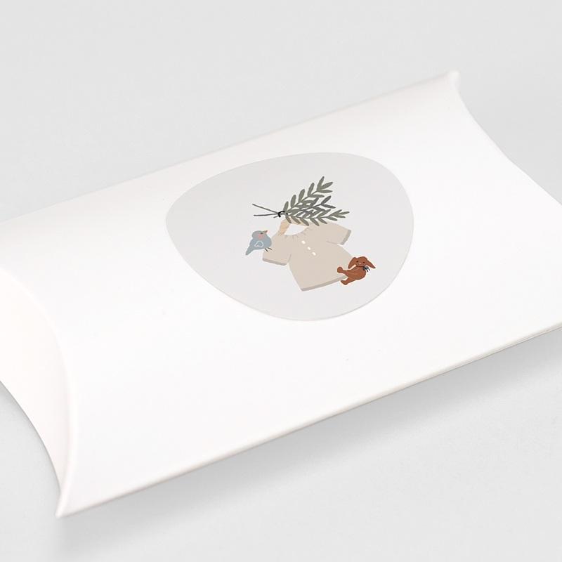 Etiquette Autocollante Naissance Blouse Garçonnet, 4,5 cm gratuit