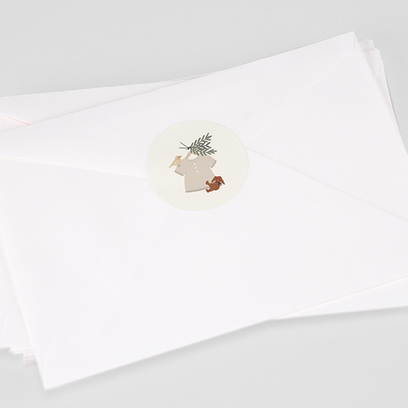 Etiquette Autocollante Naissance Blouse Fillette, 4,5 cm