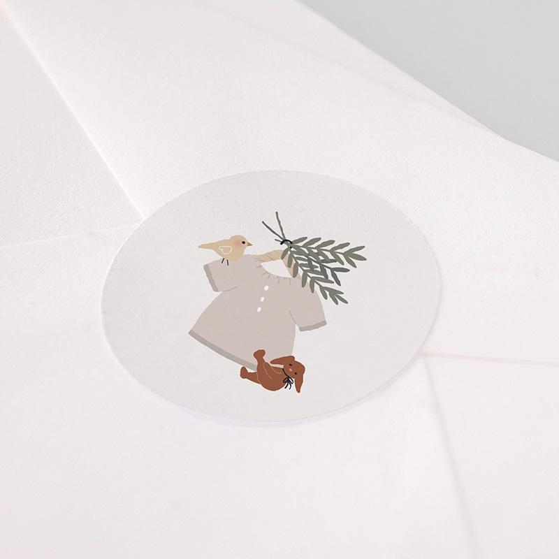 Etiquette Autocollante Naissance Blouse Fillette, 4,5 cm pas cher