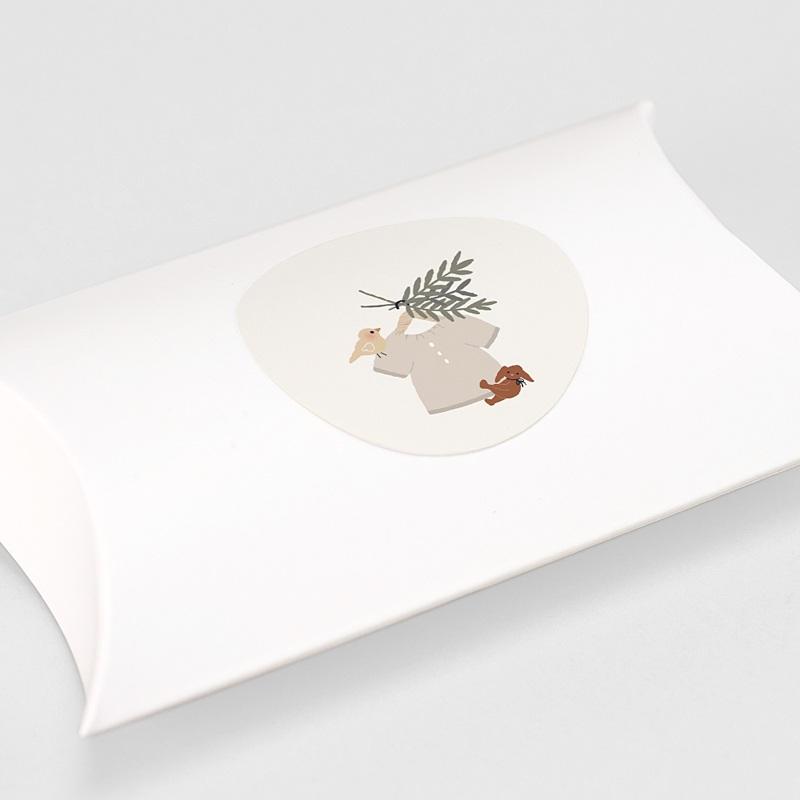 Etiquette Autocollante Naissance Blouse Fillette, 4,5 cm gratuit