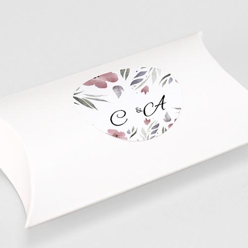 Etiquette Autocollante Mariage Fleurs romantiques, 4, 5 cm gratuit