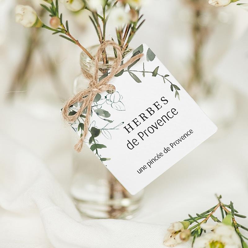 Etiquette Cadeau Mariage Eucalyptus Floral, Etiquette cadeau, 4,5 cm