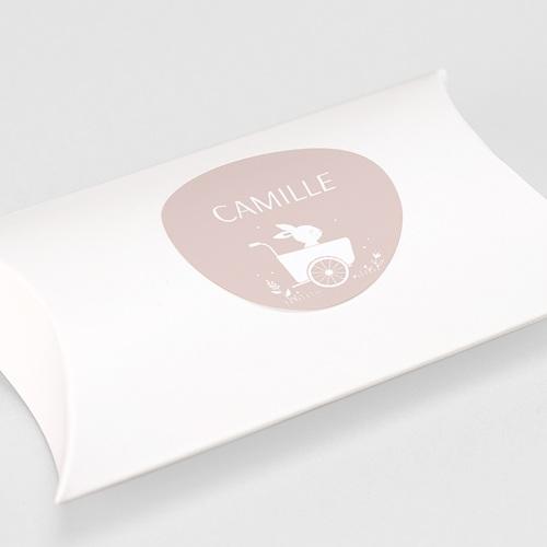 Etiquette Autocollante Naissance Lapin Fille, Triporteur, 4,5 cm gratuit