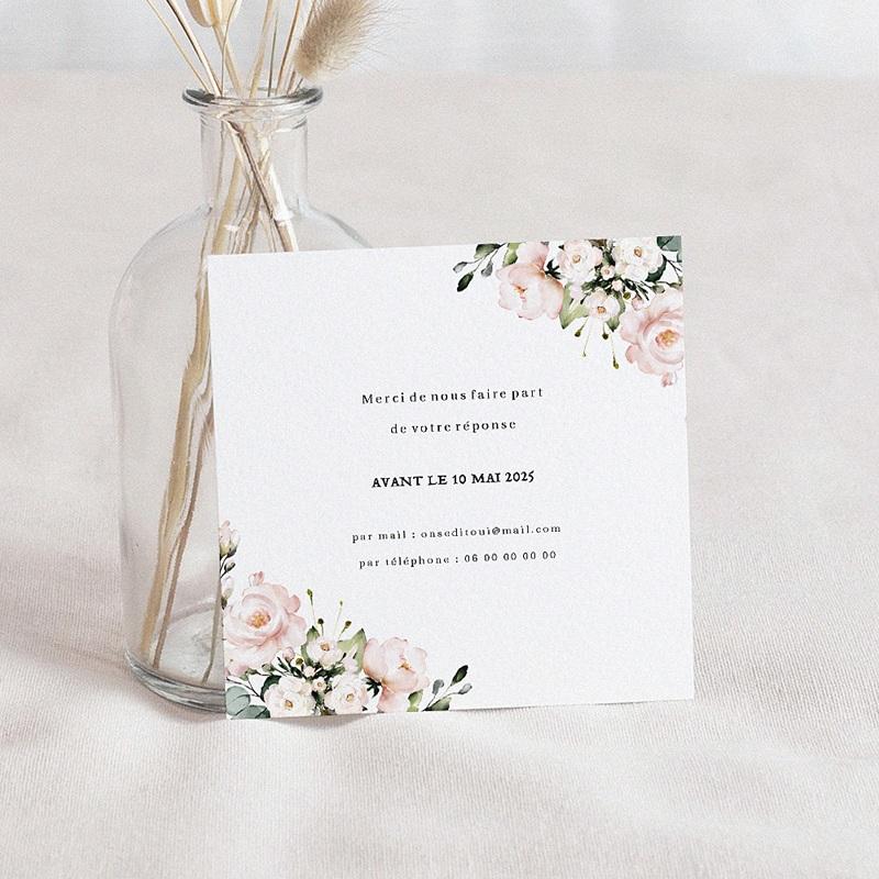 Carton Réponse Mariage Romantique Kraft, RSVP