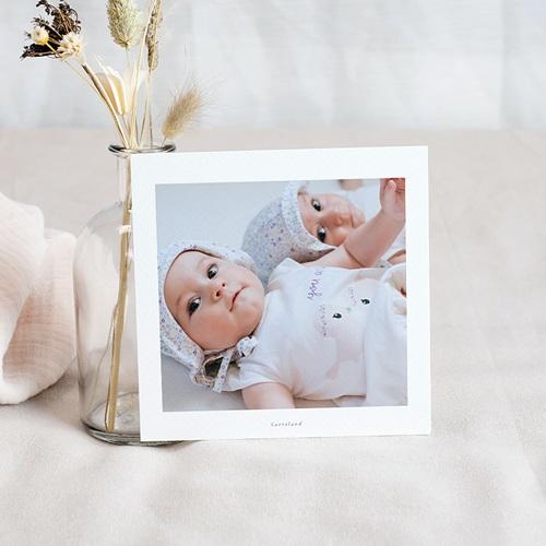Carte Remerciement Naissance Jumeaux Lapins jumeaux, Triporteur pas cher