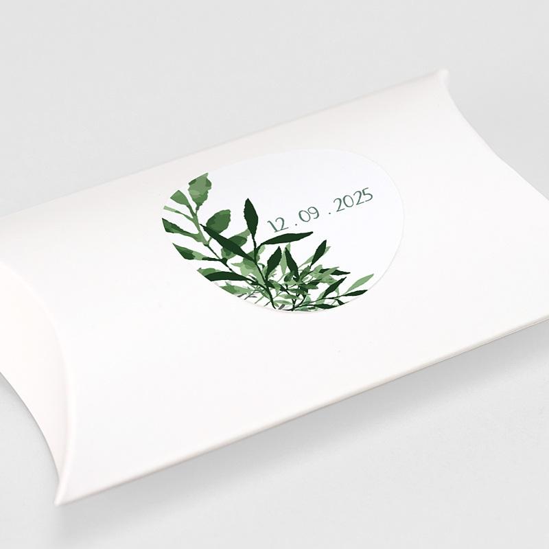 Etiquette Autocollante Mariage Végétal, Sticker gratuit