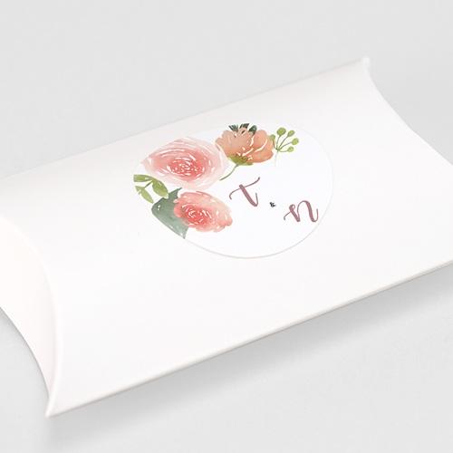 Etiquette Autocollante Mariage Diadème Floral, Sticker gratuit