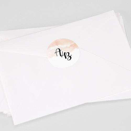 Etiquette Autocollante Mariage Aquarello, Sticker