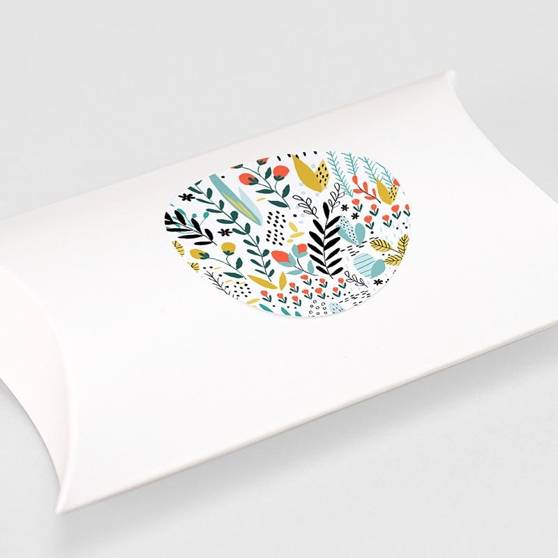Etiquette Autocollante Mariage Prairie sauvage, Sticker gratuit