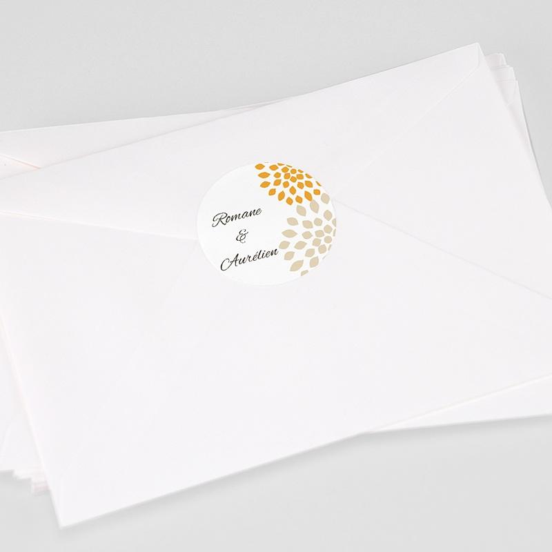 Etiquette Autocollante Mariage Ambiance Provençale, Sticker