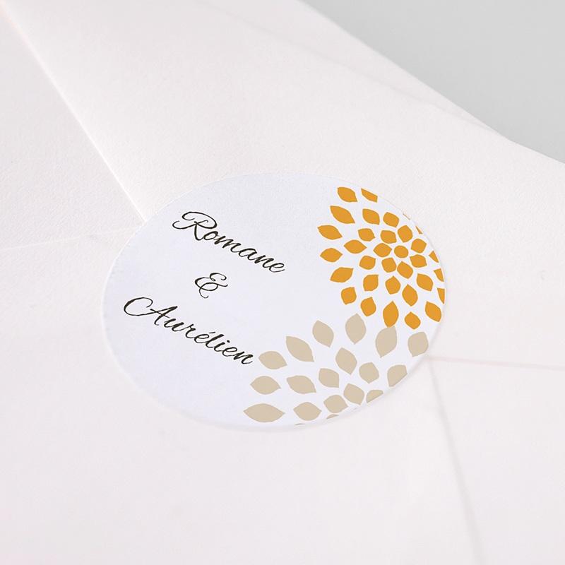 Etiquette Autocollante Mariage Ambiance Provençale, Sticker pas cher