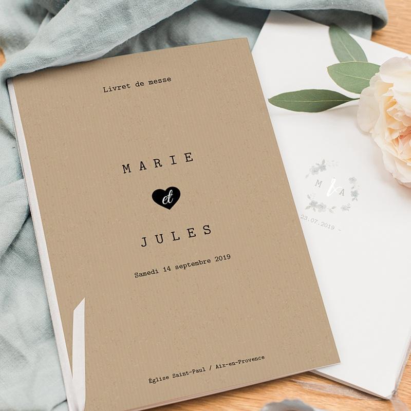 Livret Messe Mariage Notre histoire, Couverture pas cher