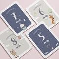 Carte Etape Bébé 12 premiers mois, Moiversaire Animaux gratuit