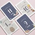 Carte Etape Bébé 12 premiers mois, Moiversaire Animaux