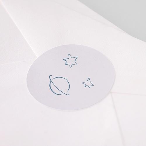 Etiquette Autocollante Naissance Le Petit Prince s'envole, bleu pas cher