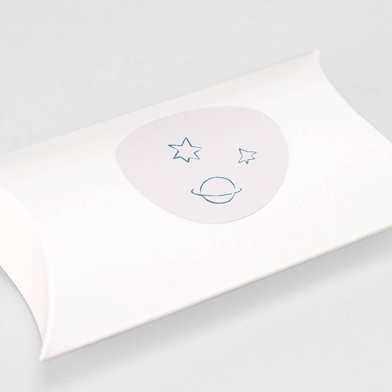 Etiquette Autocollante Naissance Le Petit Prince s'envole, bleu gratuit