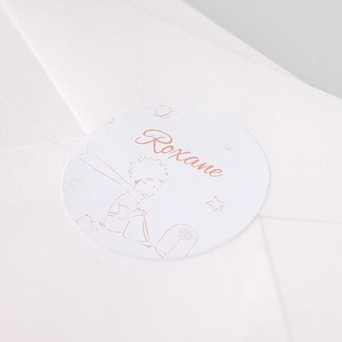 Etiquette Autocollante Naissance Le Petit Prince et sa Rose pas cher