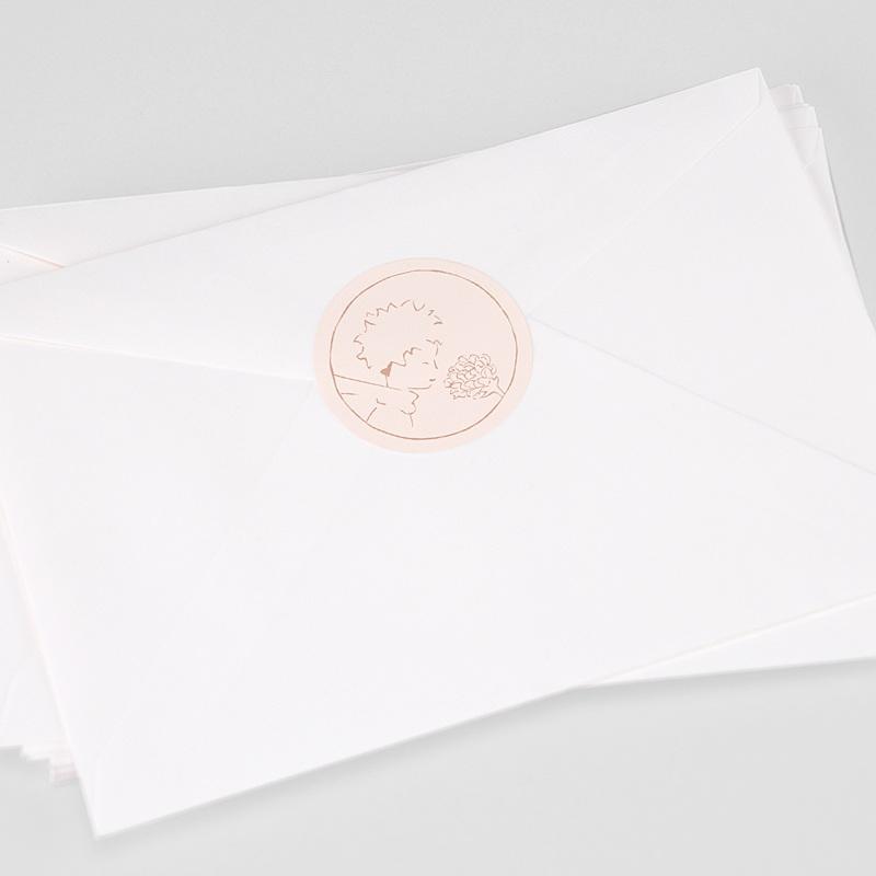 Etiquette Autocollante Naissance La rose du Petit Prince, Sticker