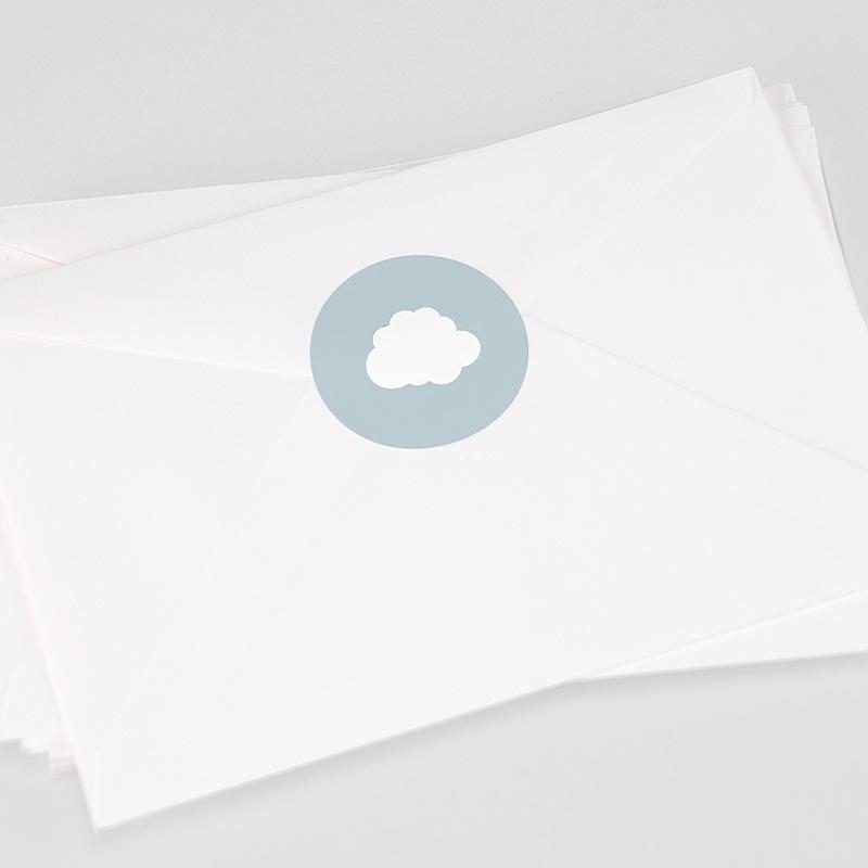 Etiquette Autocollante Naissance Petit Prince en avion, bleu, Sticker