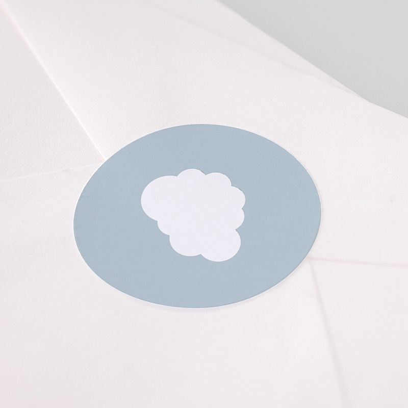 Etiquette Autocollante Naissance Petit Prince en avion, bleu, Sticker pas cher