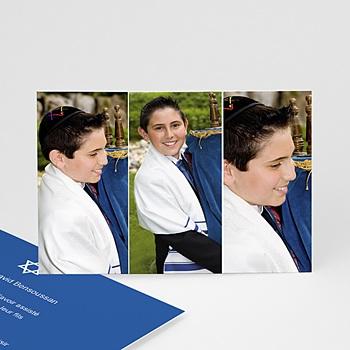 Carte remerciement bar-mitzvah remerciements 3 photos