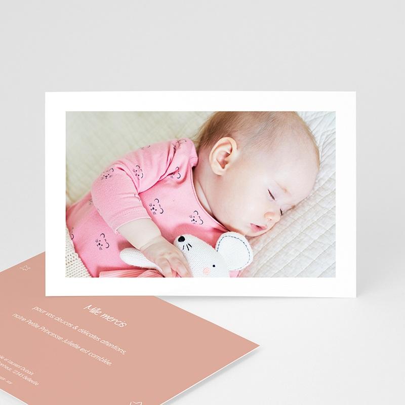 Carte Remerciement Naissance Le Petit Prince L'amour d'une rose, Photo