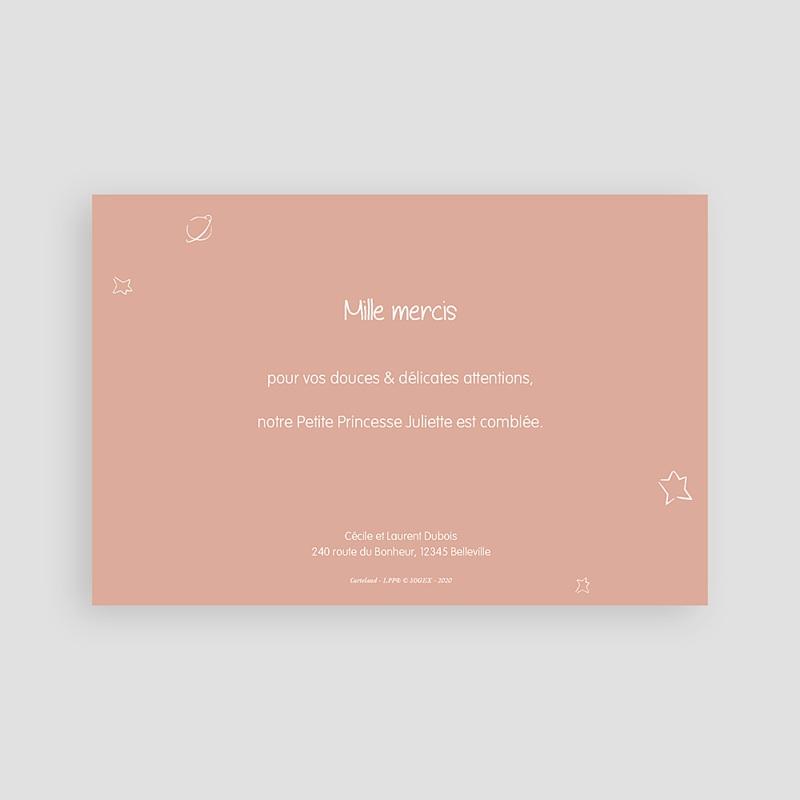 Carte Remerciement Naissance Le Petit Prince L'amour d'une rose, Photo pas cher