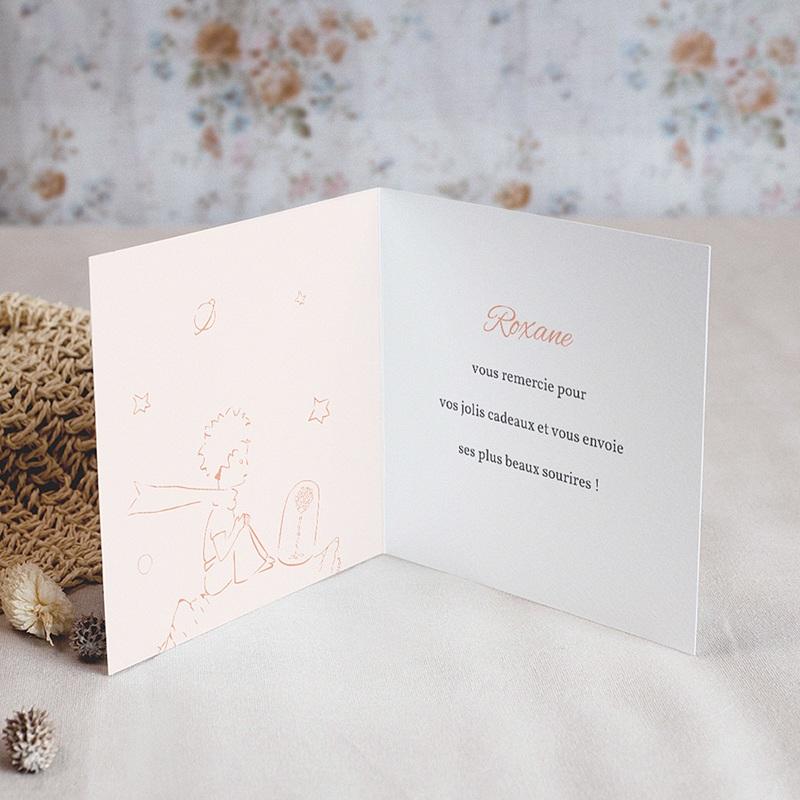 Carte Remerciement Naissance Le Petit Prince La Montgolfière du Petit Prince, Dorure pas cher