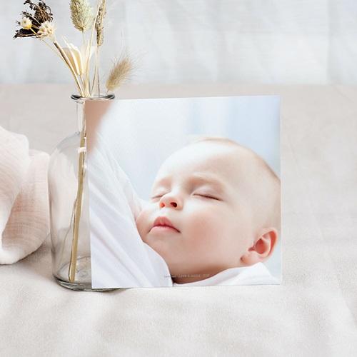 Carte Remerciement Naissance Le Petit Prince Une rose unique, dorée, Merci pas cher