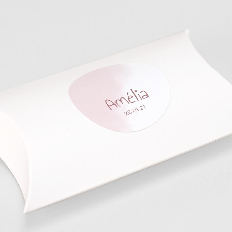 Etiquette Autocollante Naissance Dessine-moi une Rose, Sticker gratuit