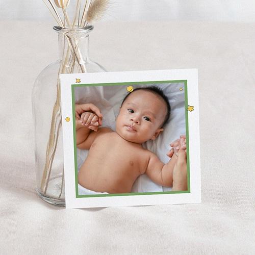 Carte Remerciement Naissance Le Petit Prince Lettre secrète de l'Amour, Photo