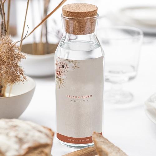 Etiquette Bouteille Mariage Fleurs séchées, Vin & Champagne gratuit