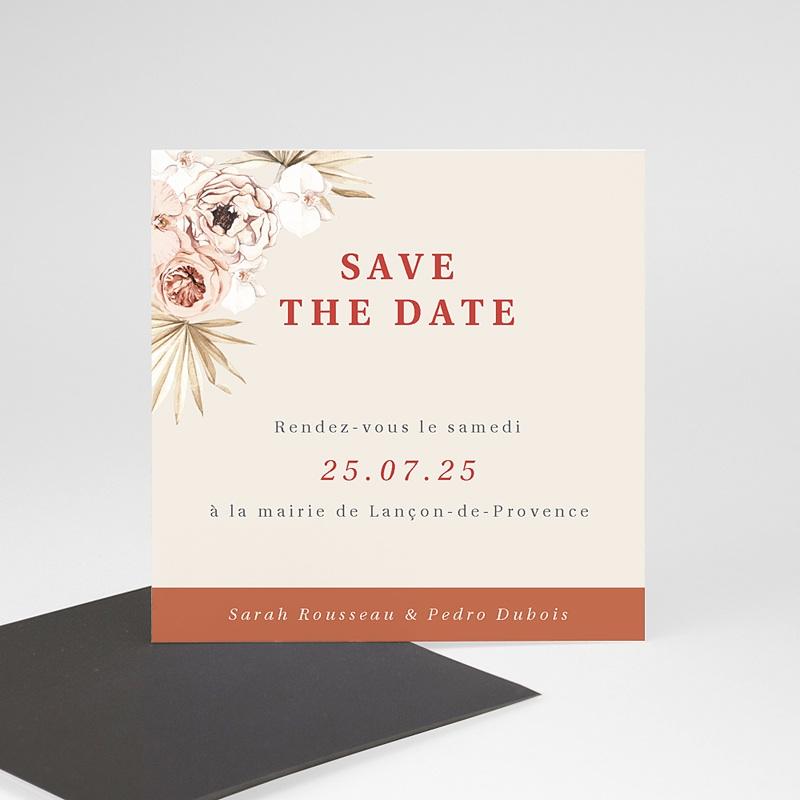 Save The Date Mariage Magnet Fleurs séchées, Magnet