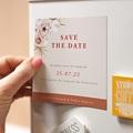 Save The Date Mariage Magnet Fleurs séchées, Magnet pas cher
