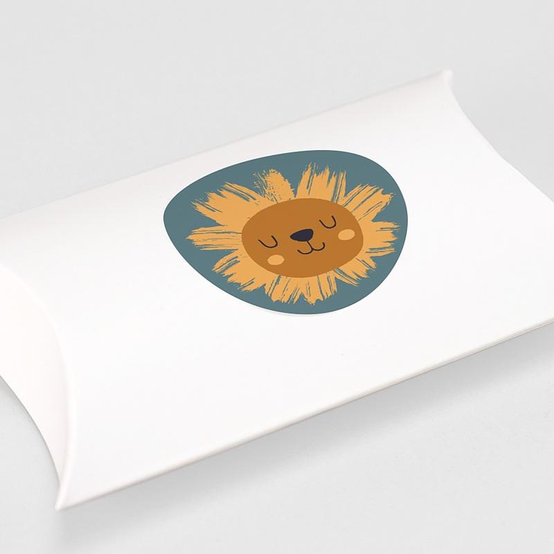 Etiquette Autocollante Naissance Petit Lion, sticker gratuit