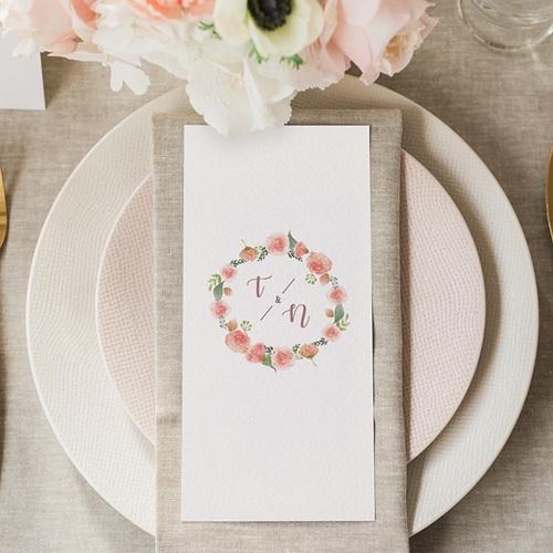 Menu Mariage Diadème Floral gratuit