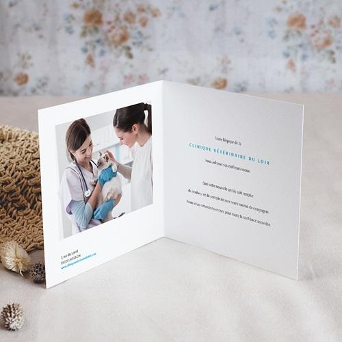Carte de Voeux Entreprise Photo Chien, Dorure, Double Volet pas cher