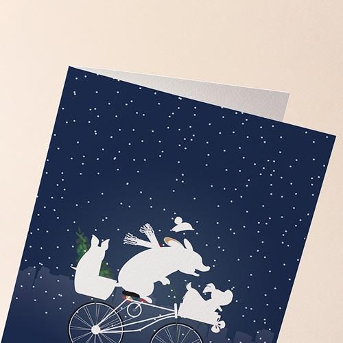 Carte de Voeux Entreprise Humour Vétérinaire, Animaux Noel, Original gratuit