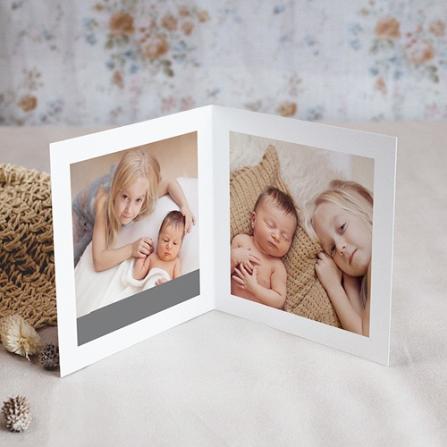 Carte Remerciement Naissance Baby Boy, portofolio, 4 photos pas cher