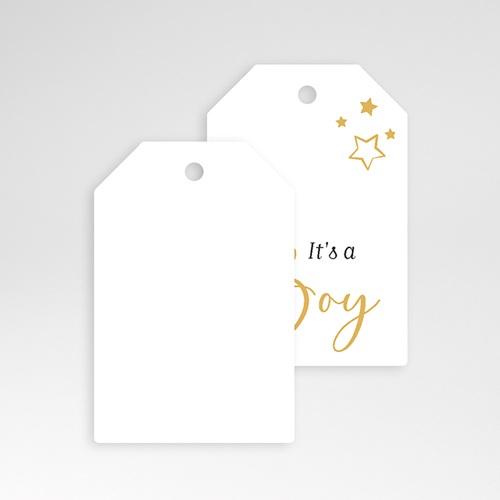 Etiquette Cadeau Naissance Boy, étoiles & Or pas cher